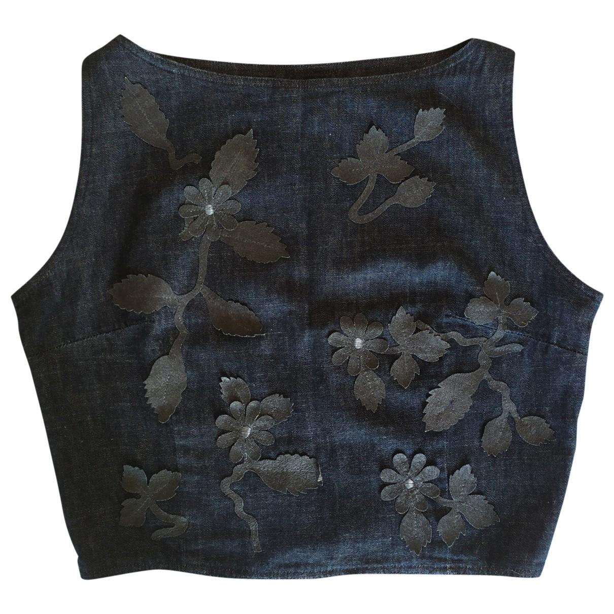 Fendi \N Top in  Blau Denim - Jeans