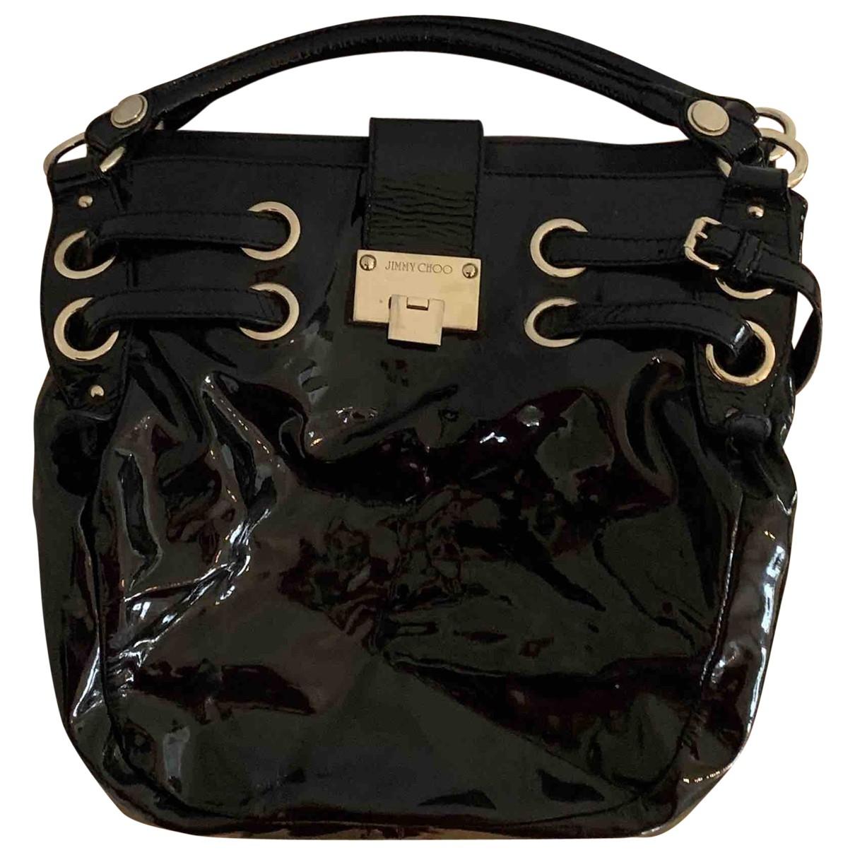 Jimmy Choo \N Handtasche in  Schwarz Lackleder