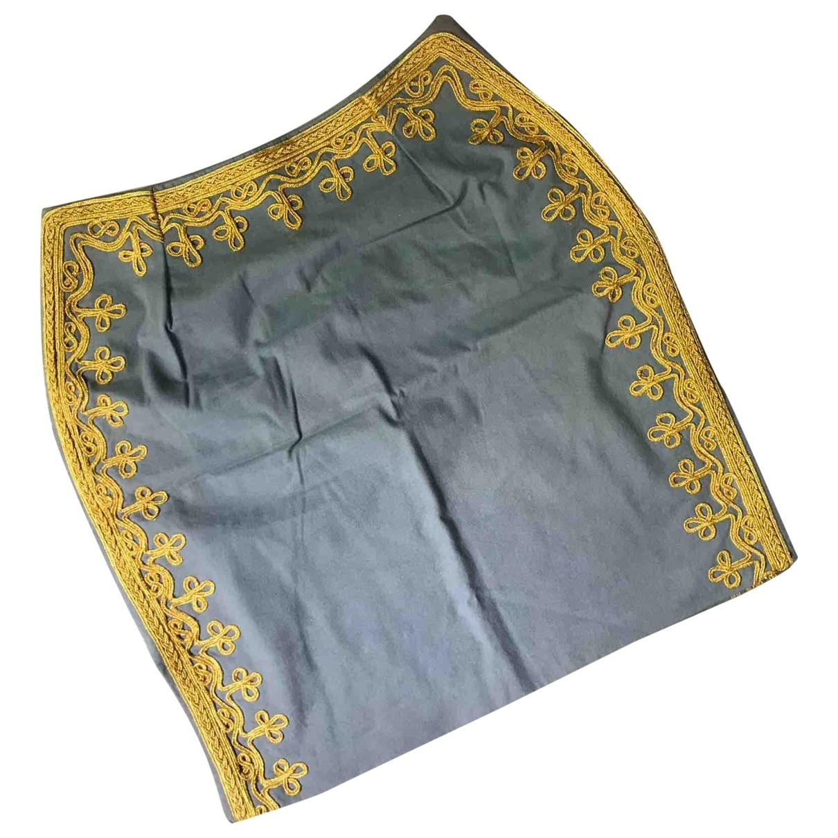 Manoush \N Grey Cotton skirt for Women 38 FR