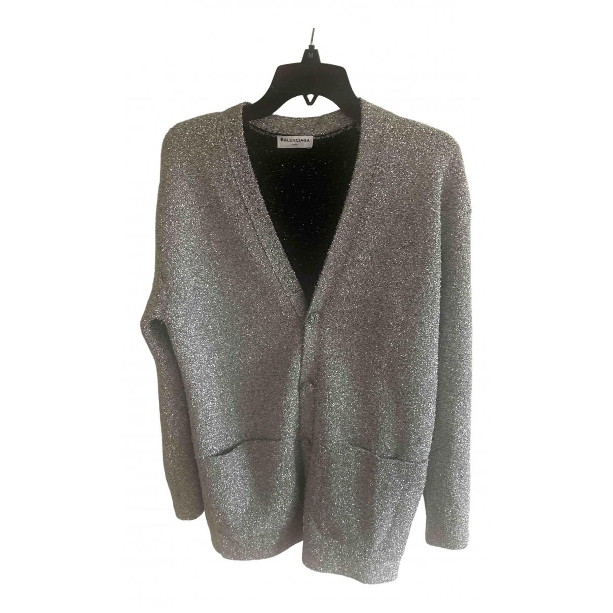 Balenciaga - Pull   pour femme en laine - argente