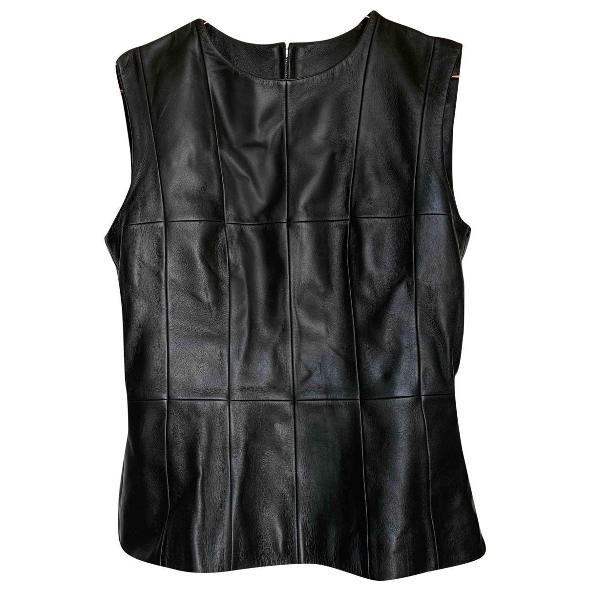 Loewe \N Top in  Schwarz Leder