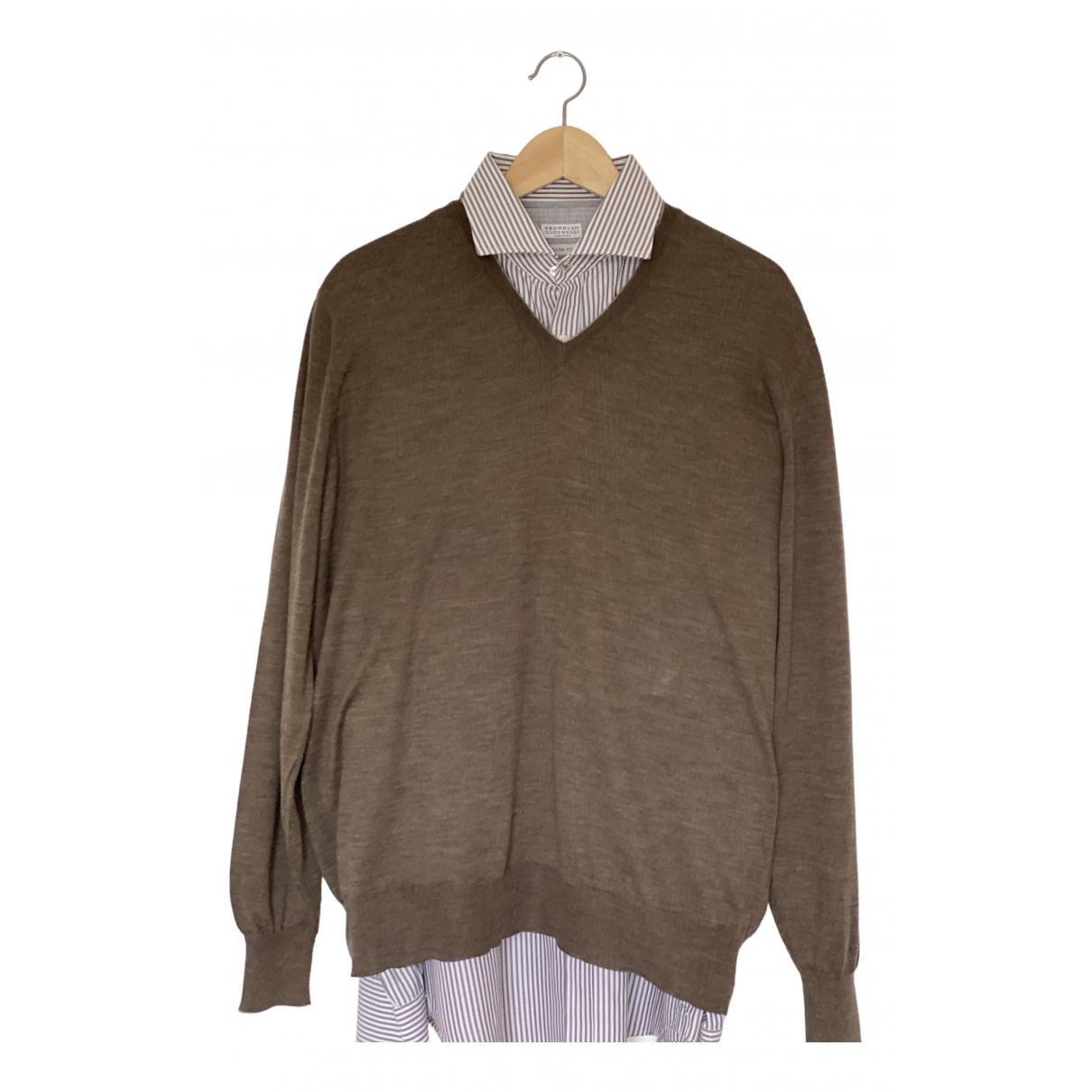 Brunello Cucinelli \N Brown Wool Knitwear & Sweatshirts for Men XL International