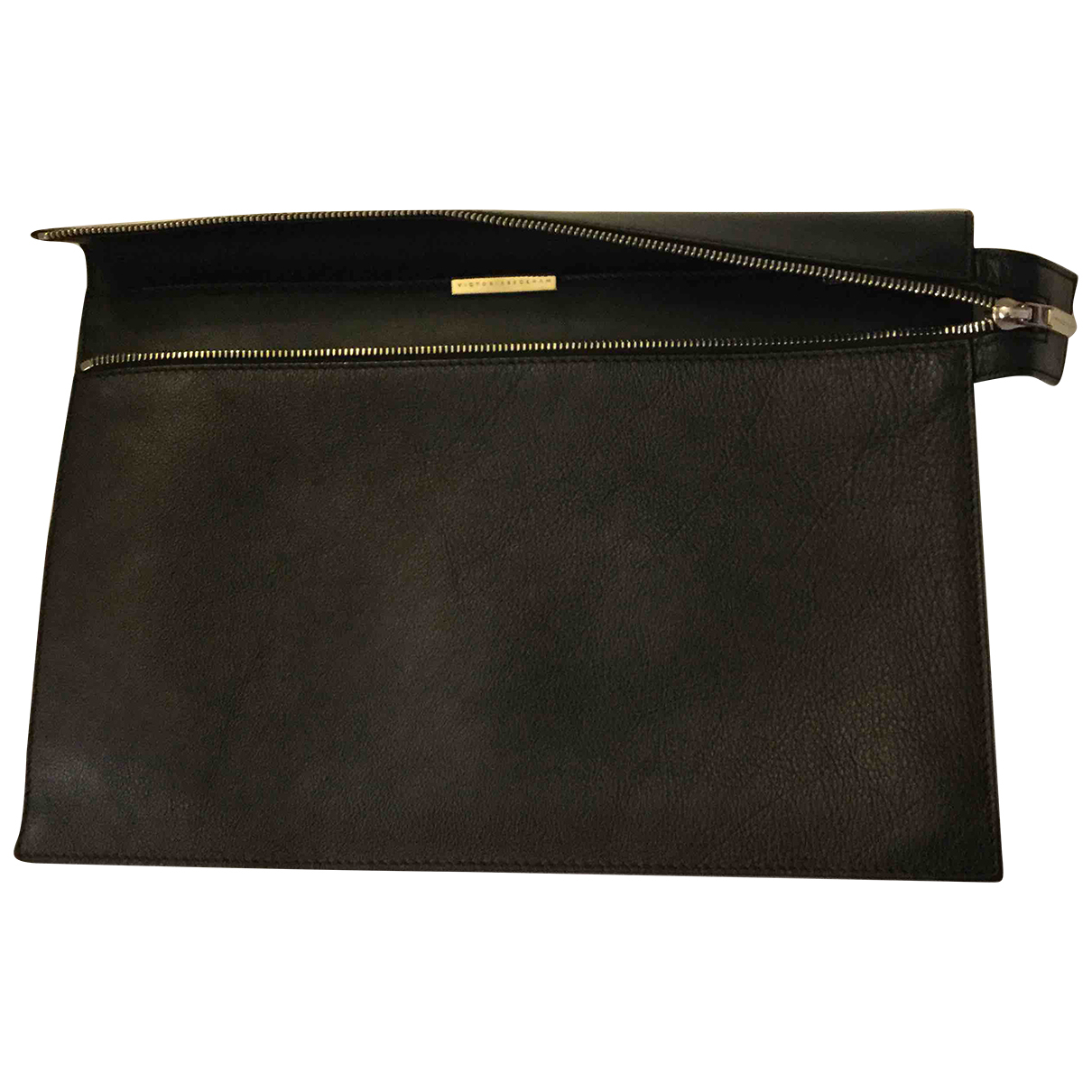 Victoria Beckham N Black Leather Clutch bag for Women N