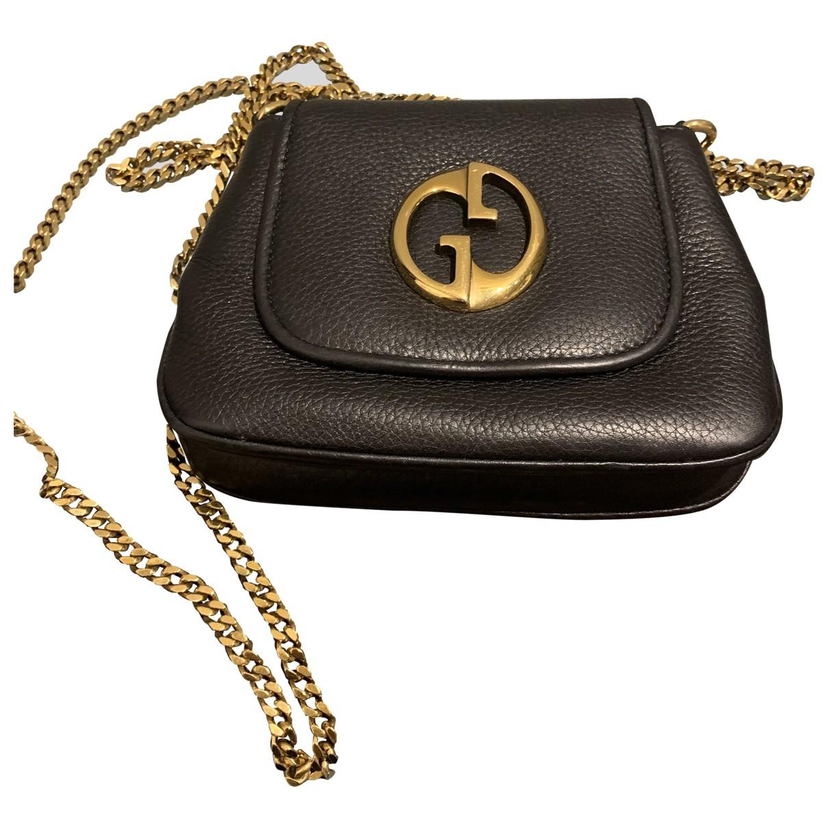 Gucci 1973 Black Leather handbag for Women \N