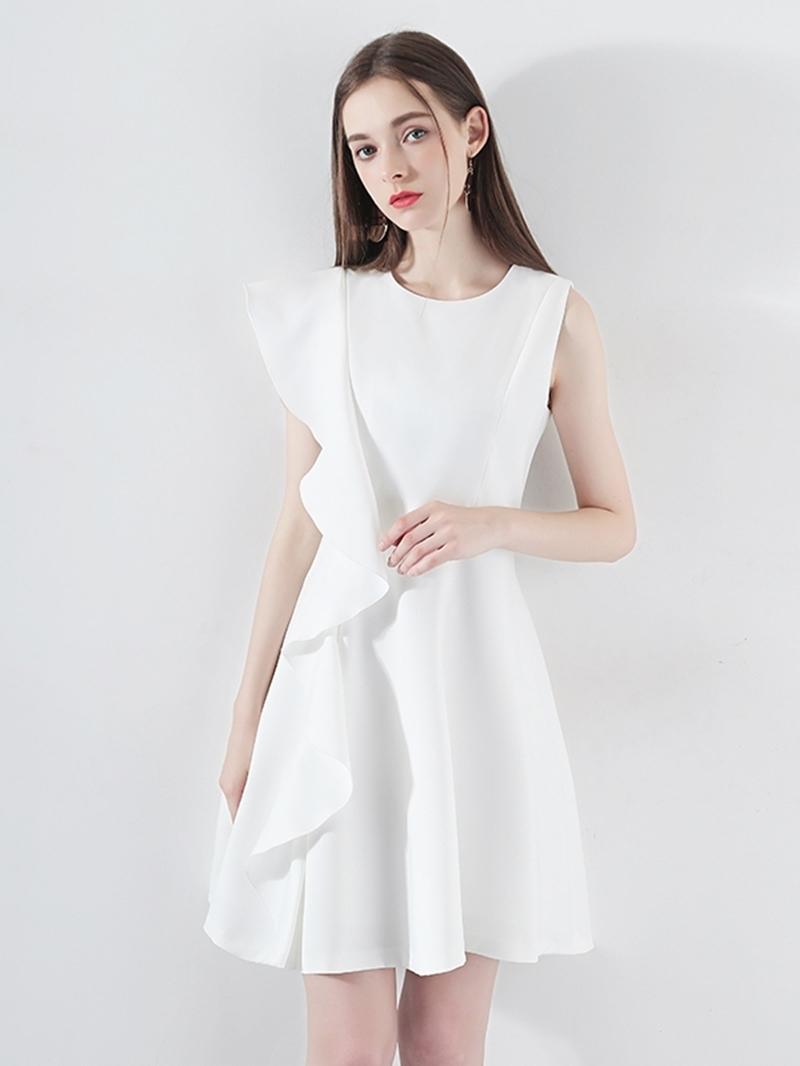 Ericdress Pick-Ups Sleeveless Scoop A-Line Homecoming Dress