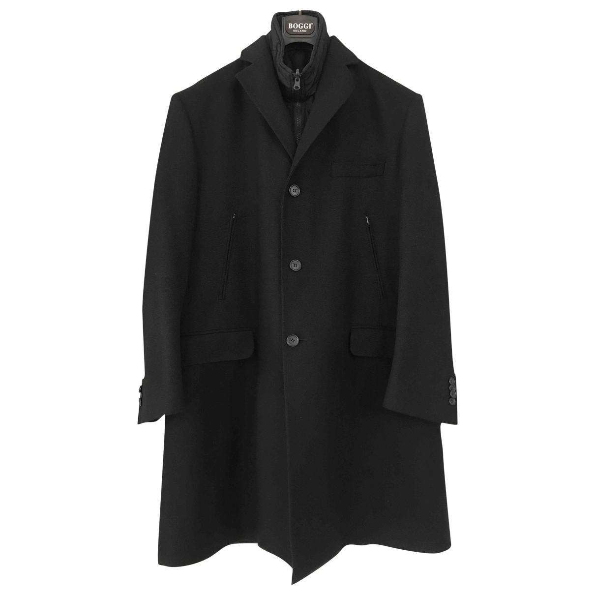 Boggi - Manteau   pour homme en laine - noir