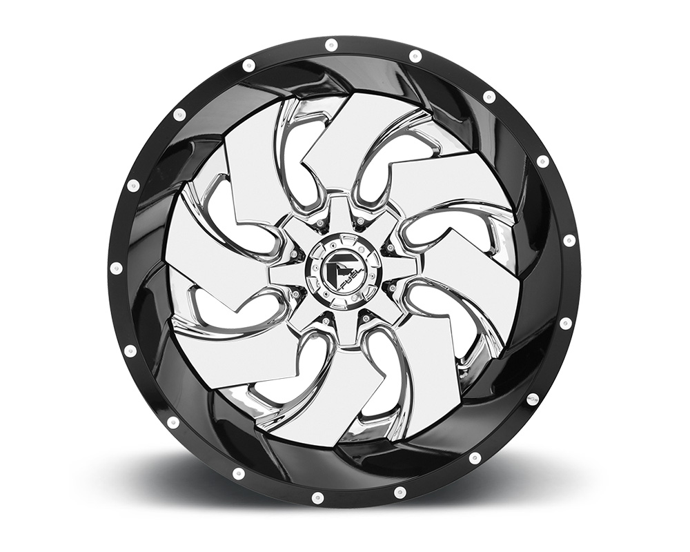 Fuel D240 Cleaver Chrome Center w/ Gloss Black Outer 2-Piece Cast Wheel 20x10 8x165.1 -19mm