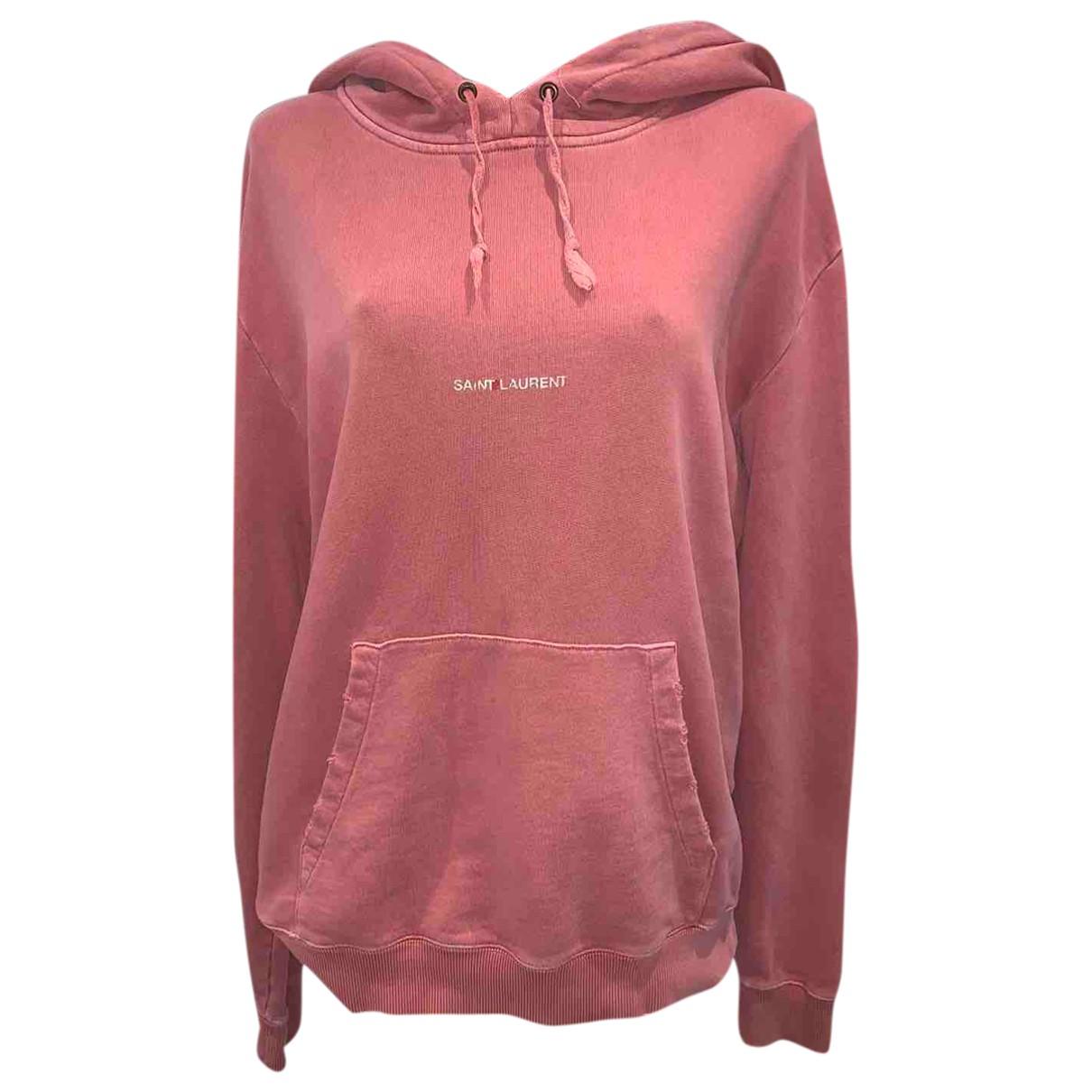 Saint Laurent - Pull   pour femme en coton - rose