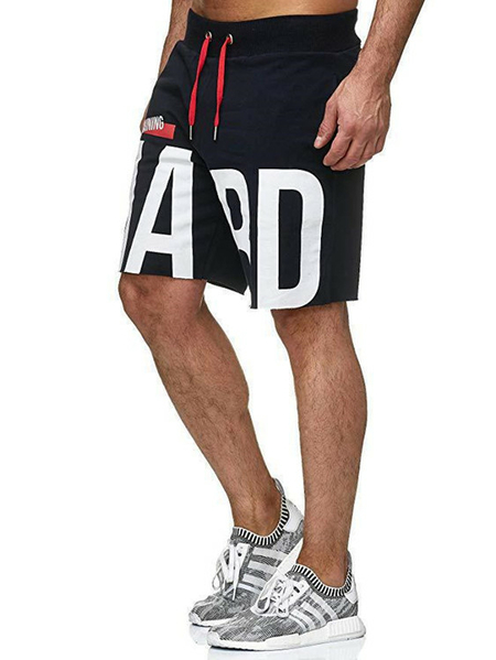 Yoins Men Letter Printed Loose Sports Outdoor Casual Shorts