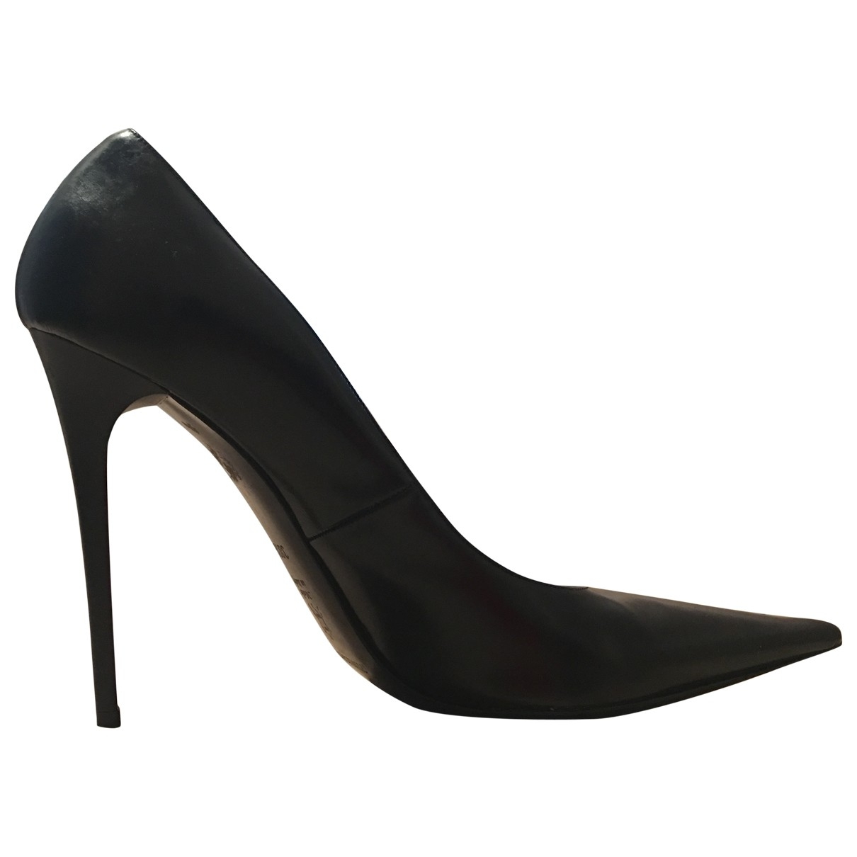 Gianmarco Lorenzi \N Black Leather Heels for Women 38.5 EU