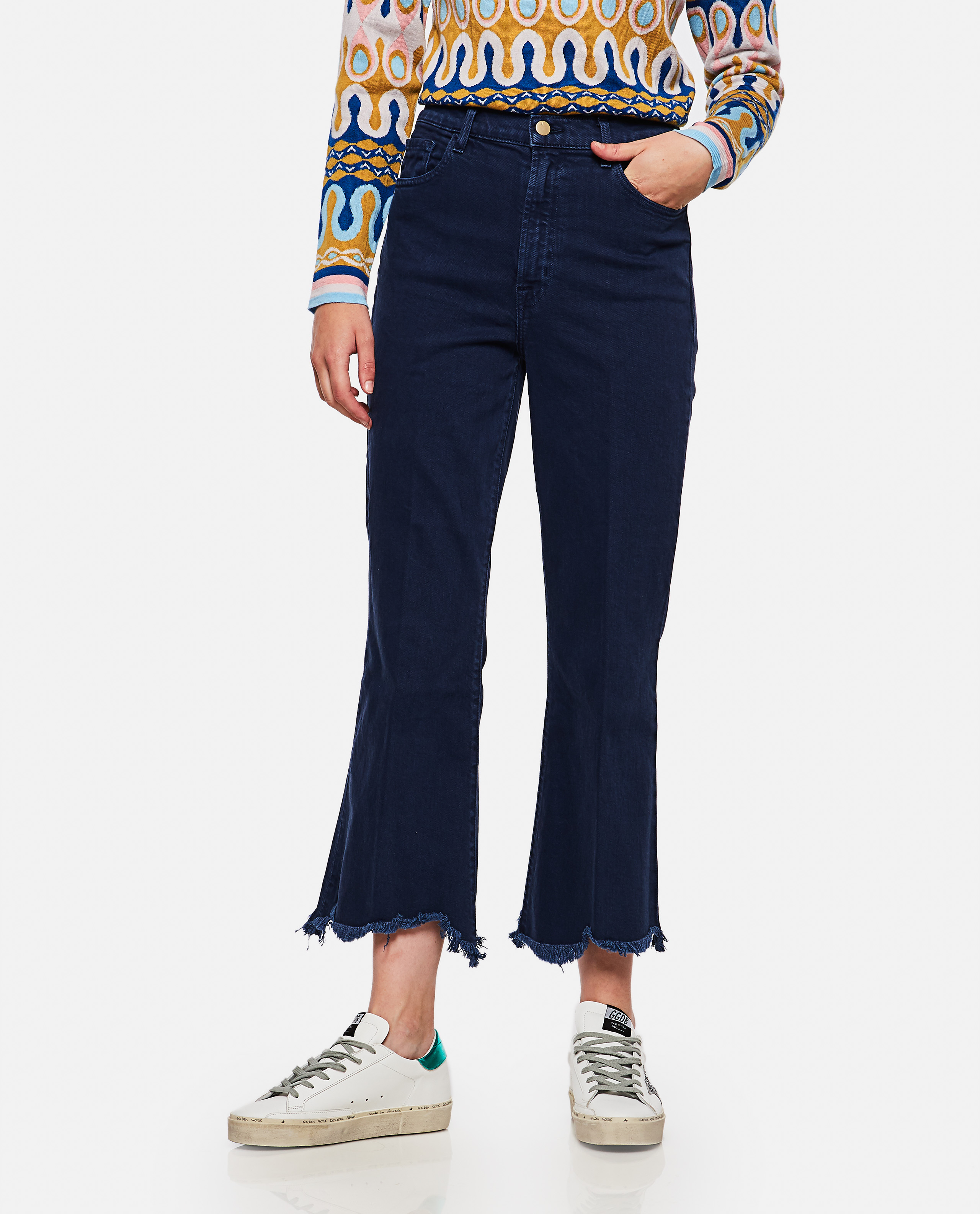 Blue Julia High Rise Flare Jeans
