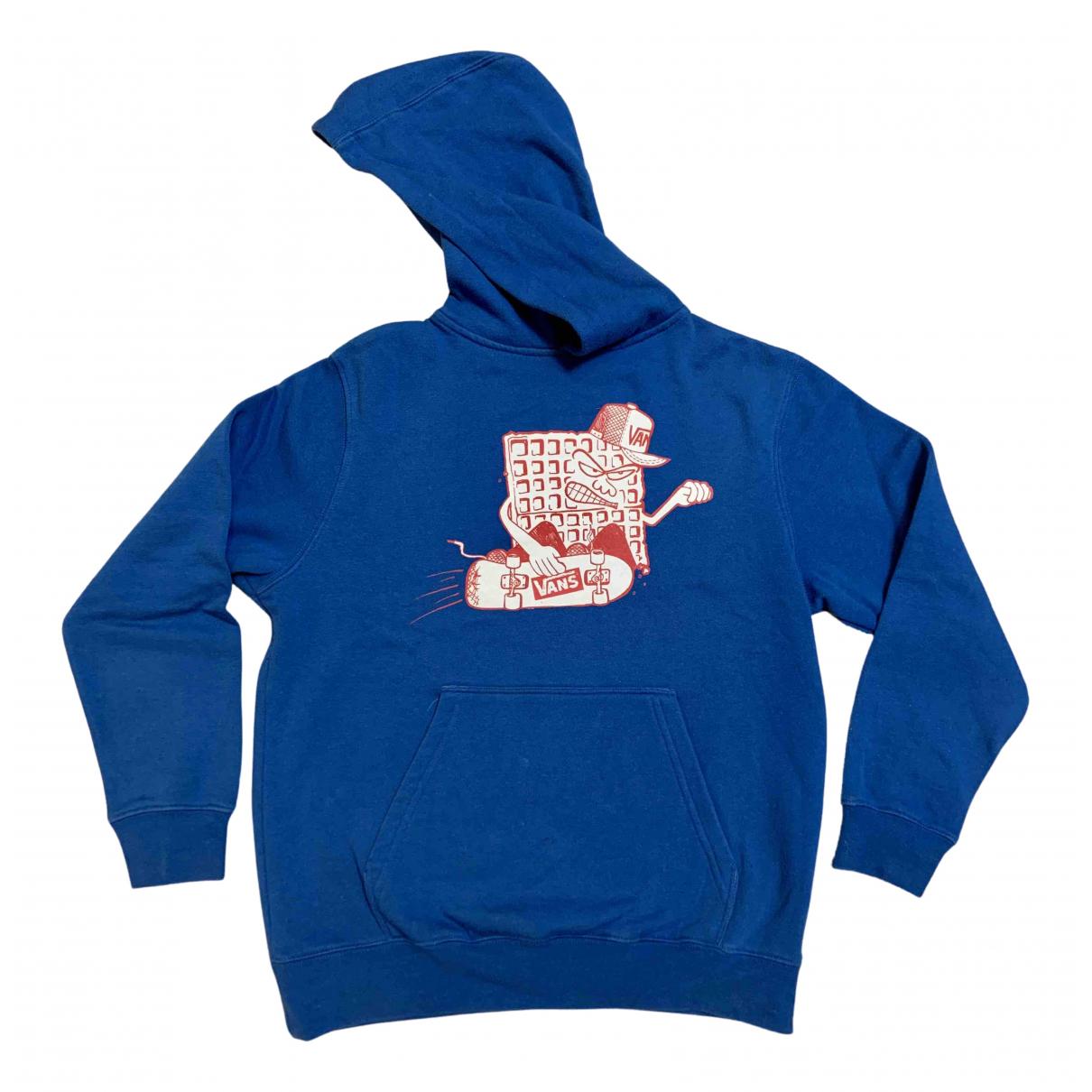 Vans - Top   pour femme en coton - bleu