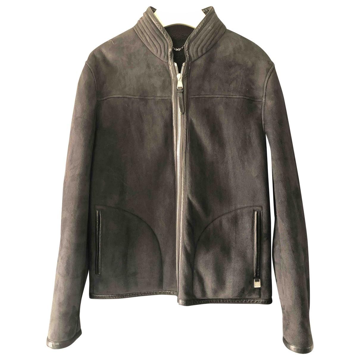 Louis Vuitton \N Black Suede jacket  for Men 50 IT