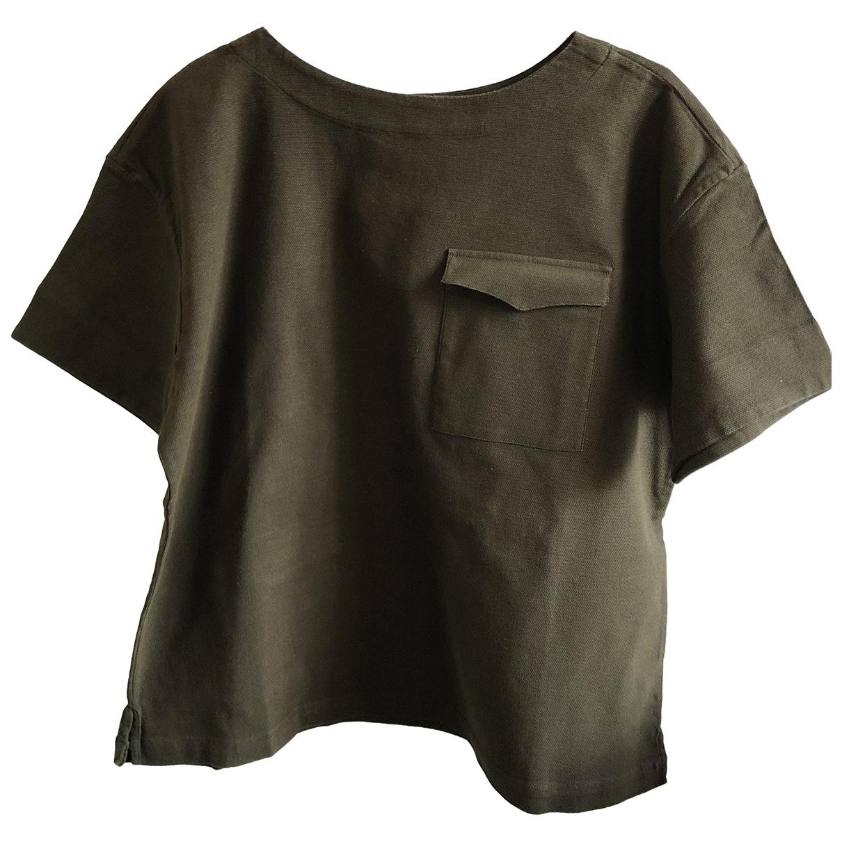 Kenzo - Tee shirts   pour homme en coton - kaki
