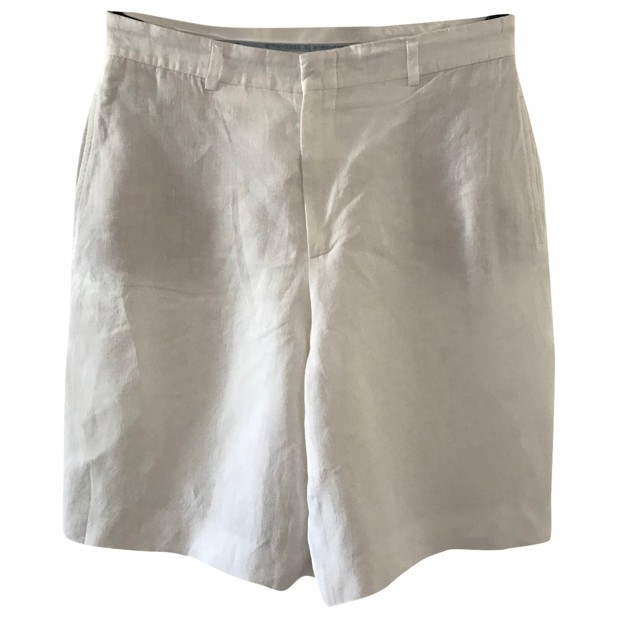 Strenesse \N White Cloth Shorts for Women 42 FR