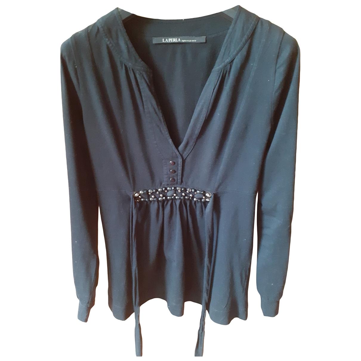 La Perla - Top   pour femme en coton - noir