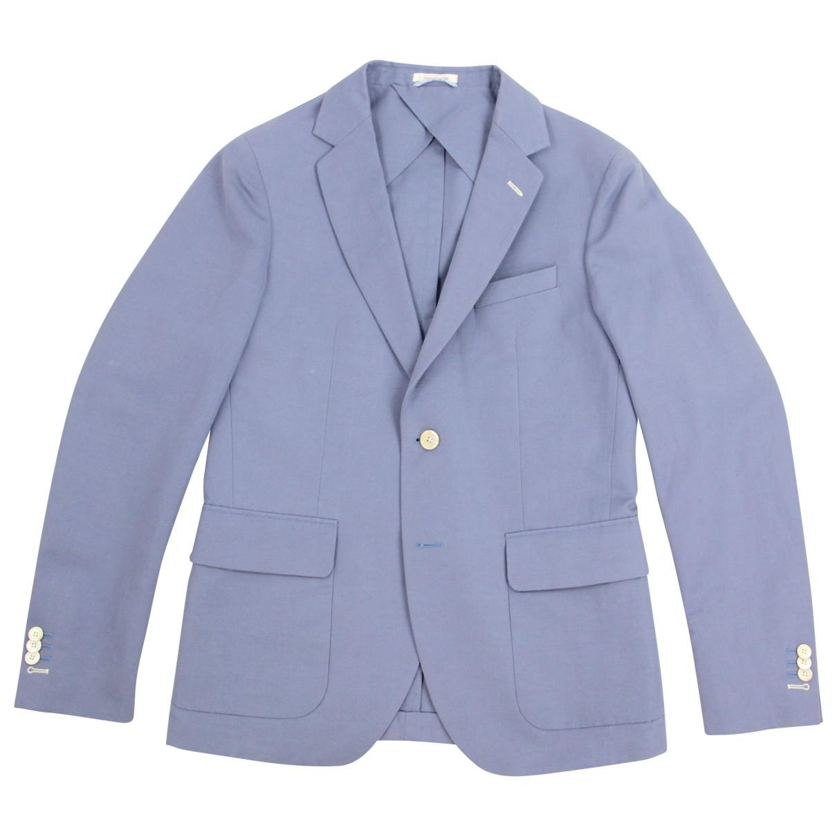 Gant Rugger - Vestes.Blousons   pour homme en lin - bleu