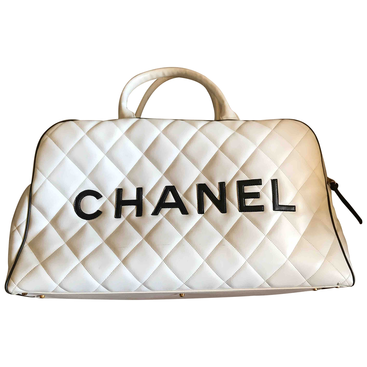 Chanel \N White Leather Travel bag for Women \N