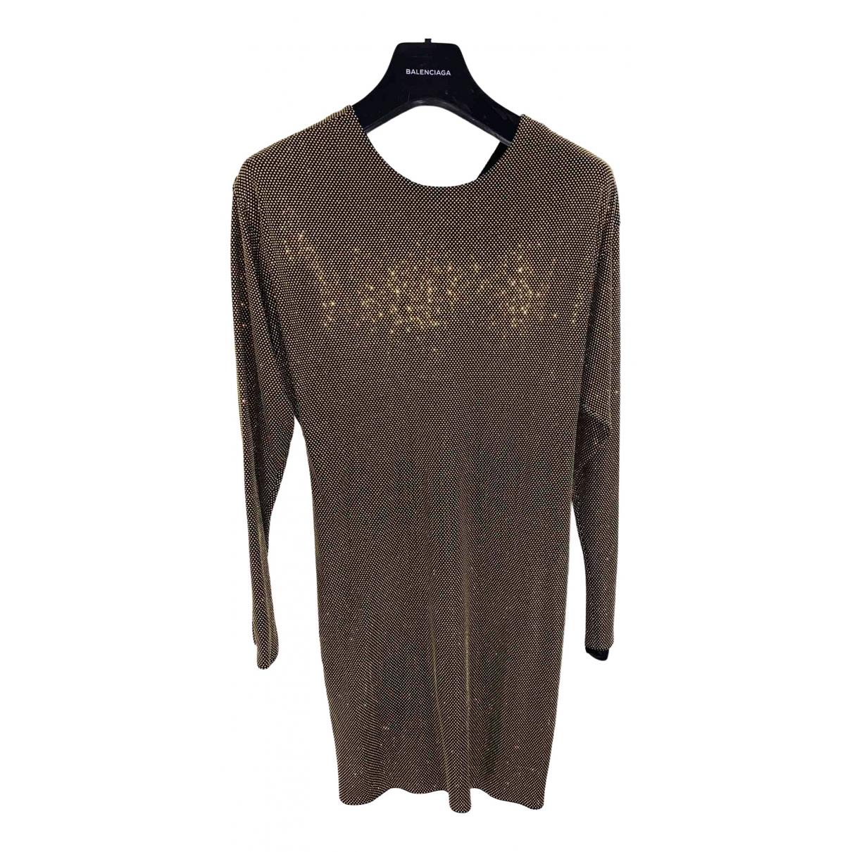 Versace \N Kleid in  Gold Viskose