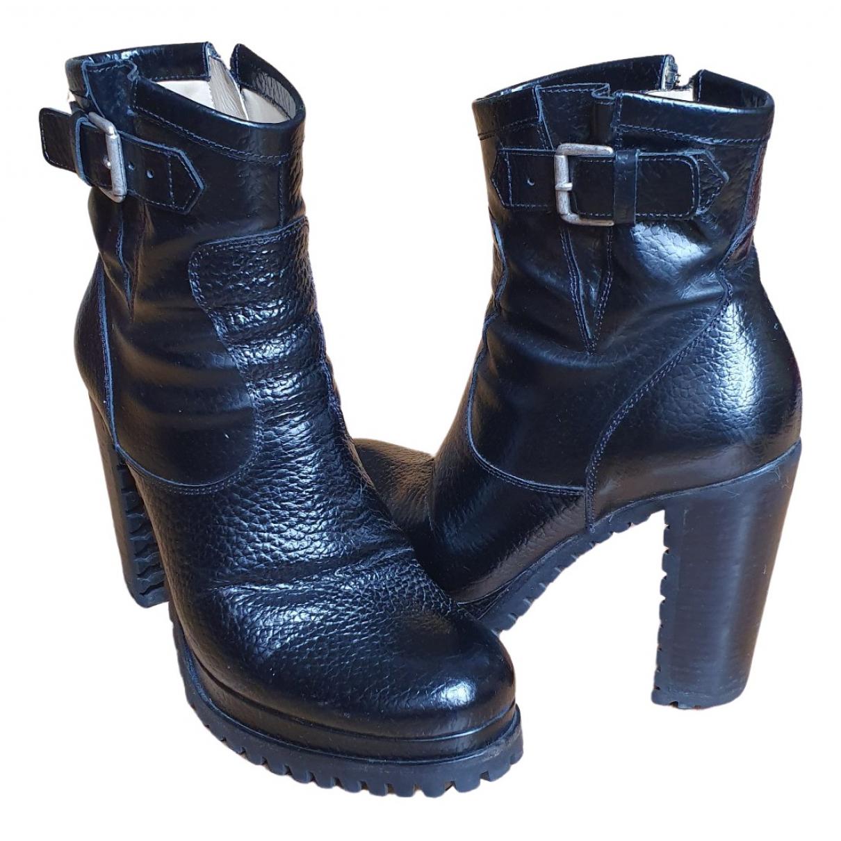 Free Lance - Boots   pour femme en cuir verni - noir