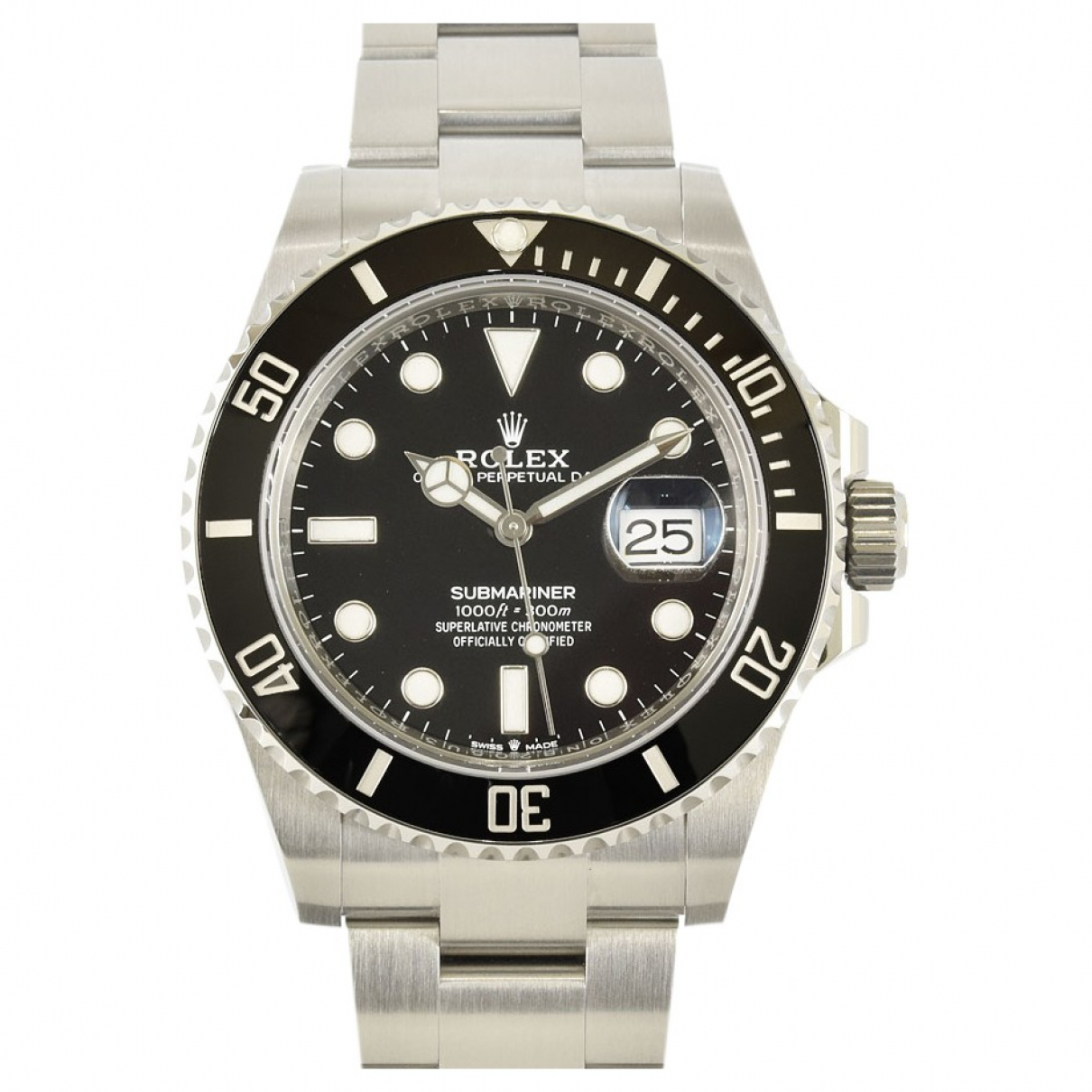 Rolex Submariner Black Steel watch for Men N
