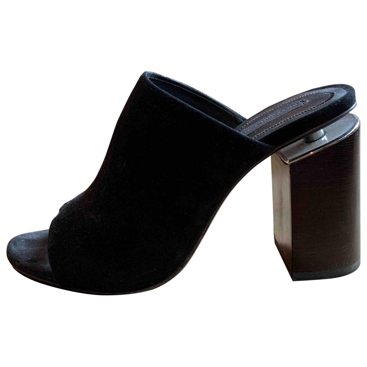 Alexander Wang \N Black Suede Sandals for Women 38.5 EU