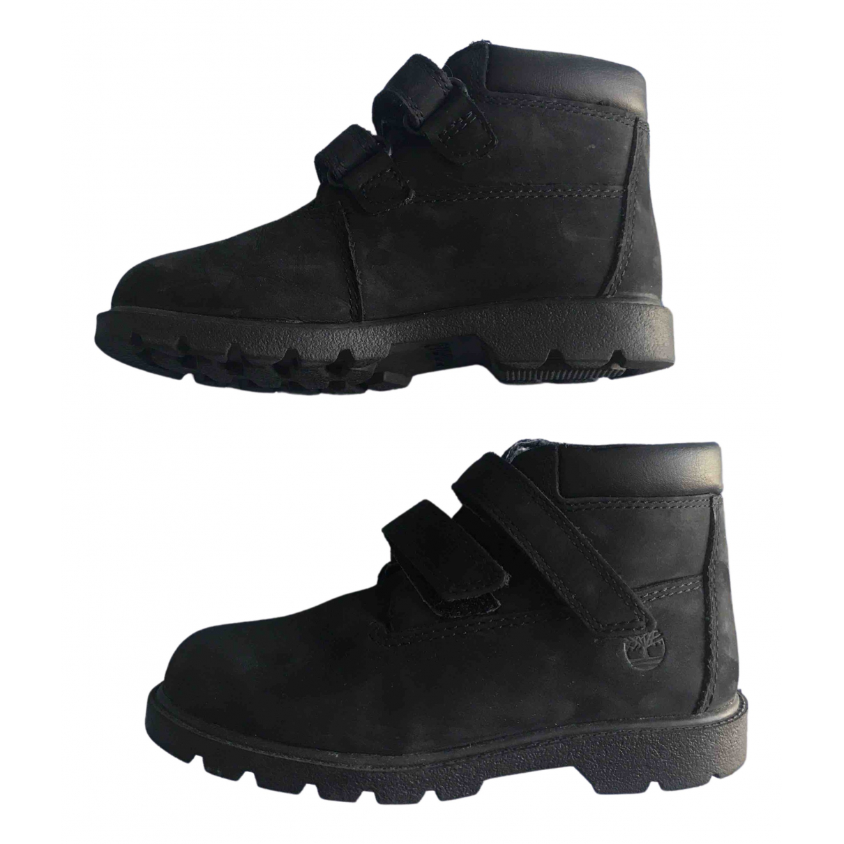 Timberland N Black Leather Boots for Kids 10.5 US