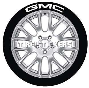 Tire Stickers GMC-1416-15-4-Y Permanent Raised Rubber Lettering 'GMC' Logo - 4 of each -    14