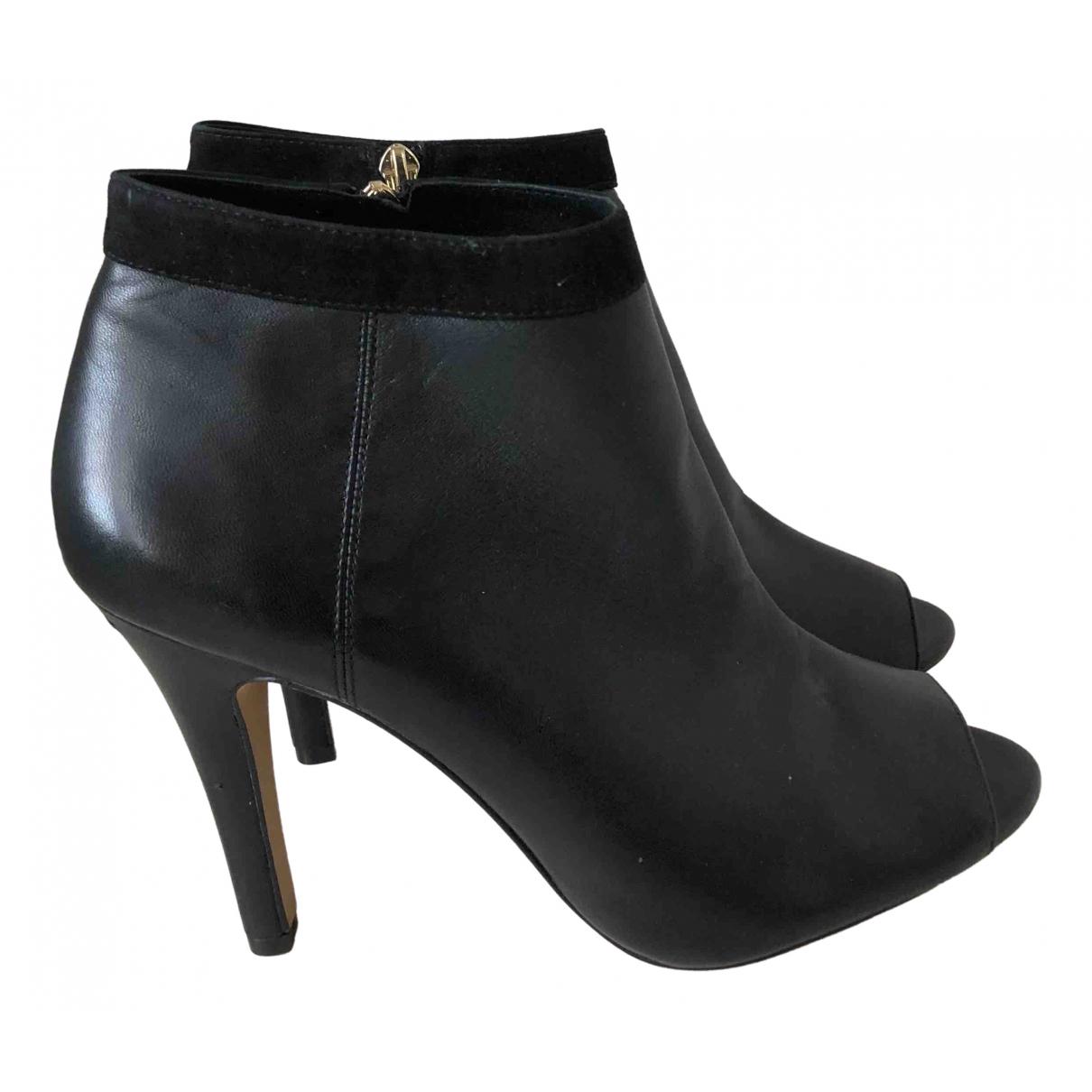 Vince Camuto - Boots   pour femme en cuir - noir