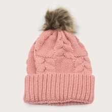 Simple Pom Pom Beanie