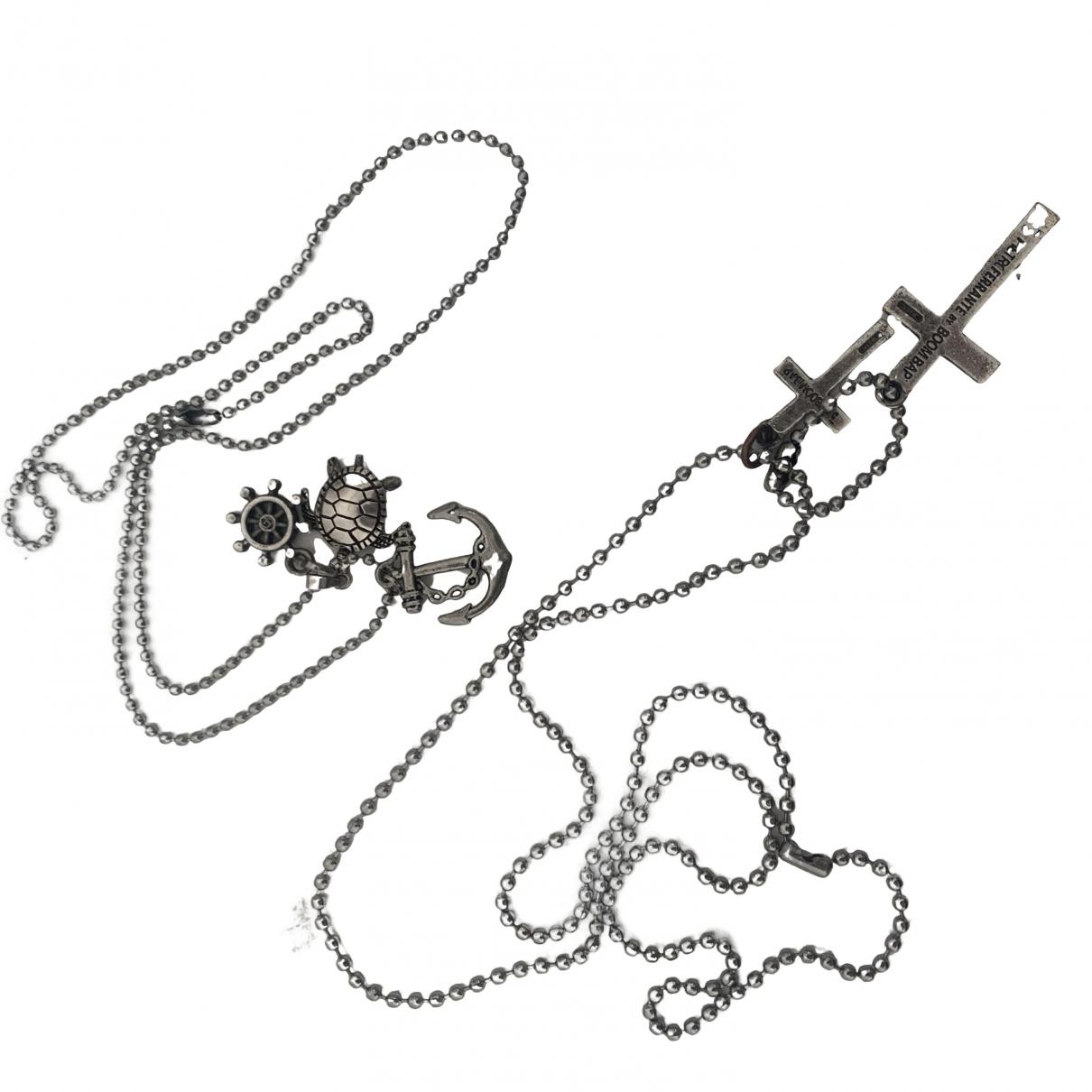 - Sautoir Croix pour femme en acier - argente