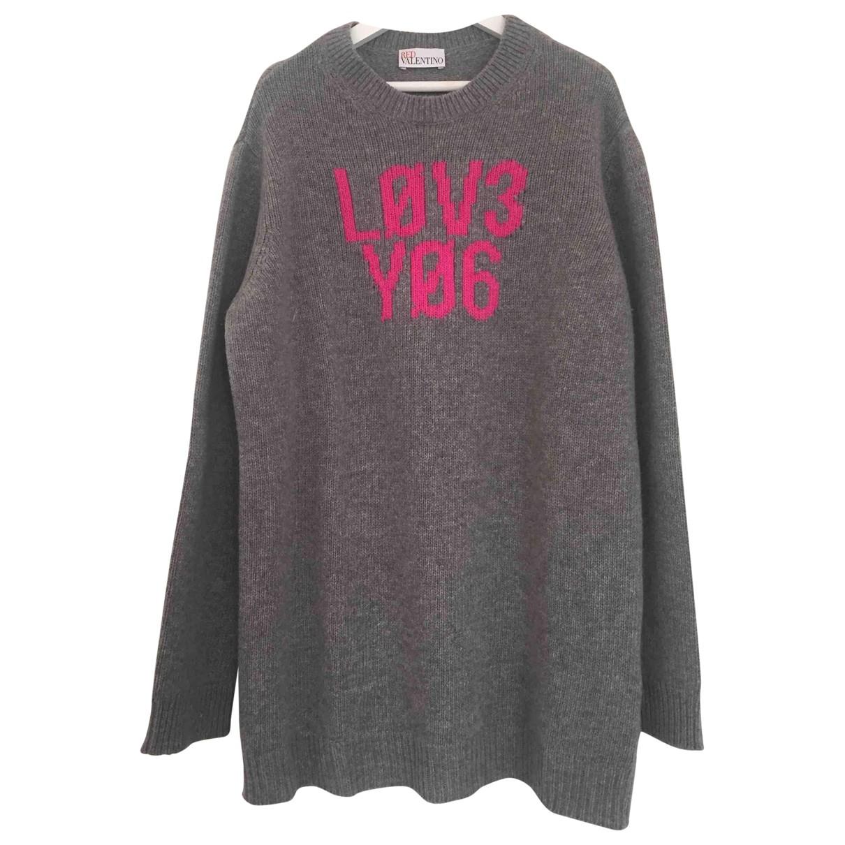 Red Valentino Garavani - Pull   pour femme en laine - gris