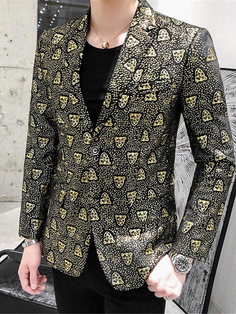 Ericdress Notched Lapel Print Fashion Men's Leisure Blazers