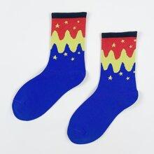Men Star Pattern Socks