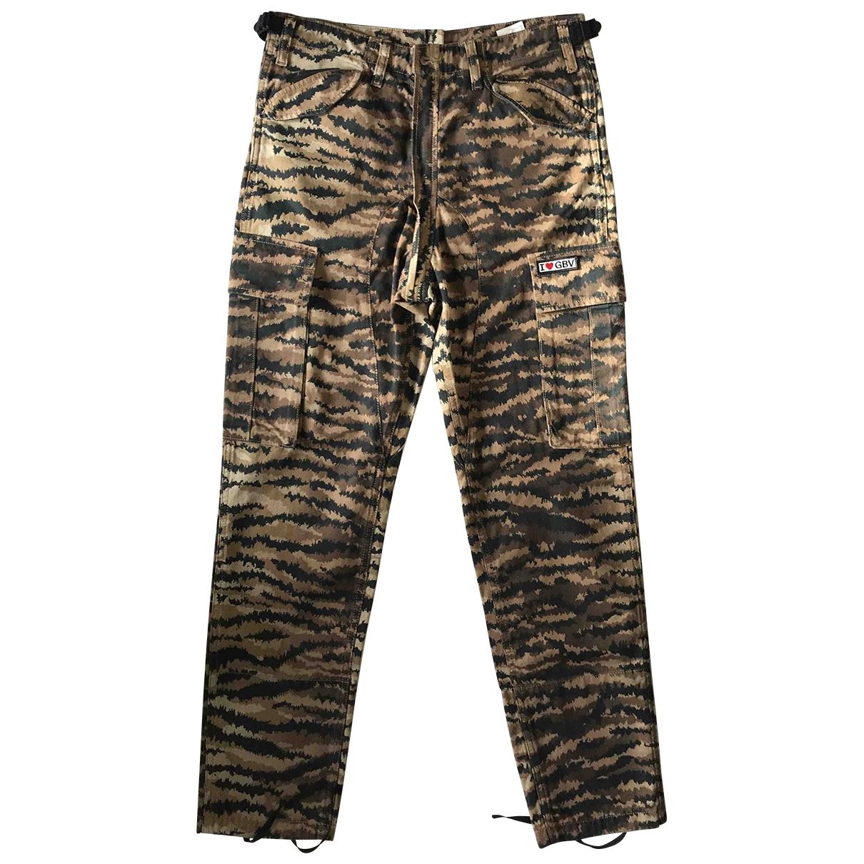 Giambattista Valli X H&m \N Brown Cotton Trousers for Men 46 IT