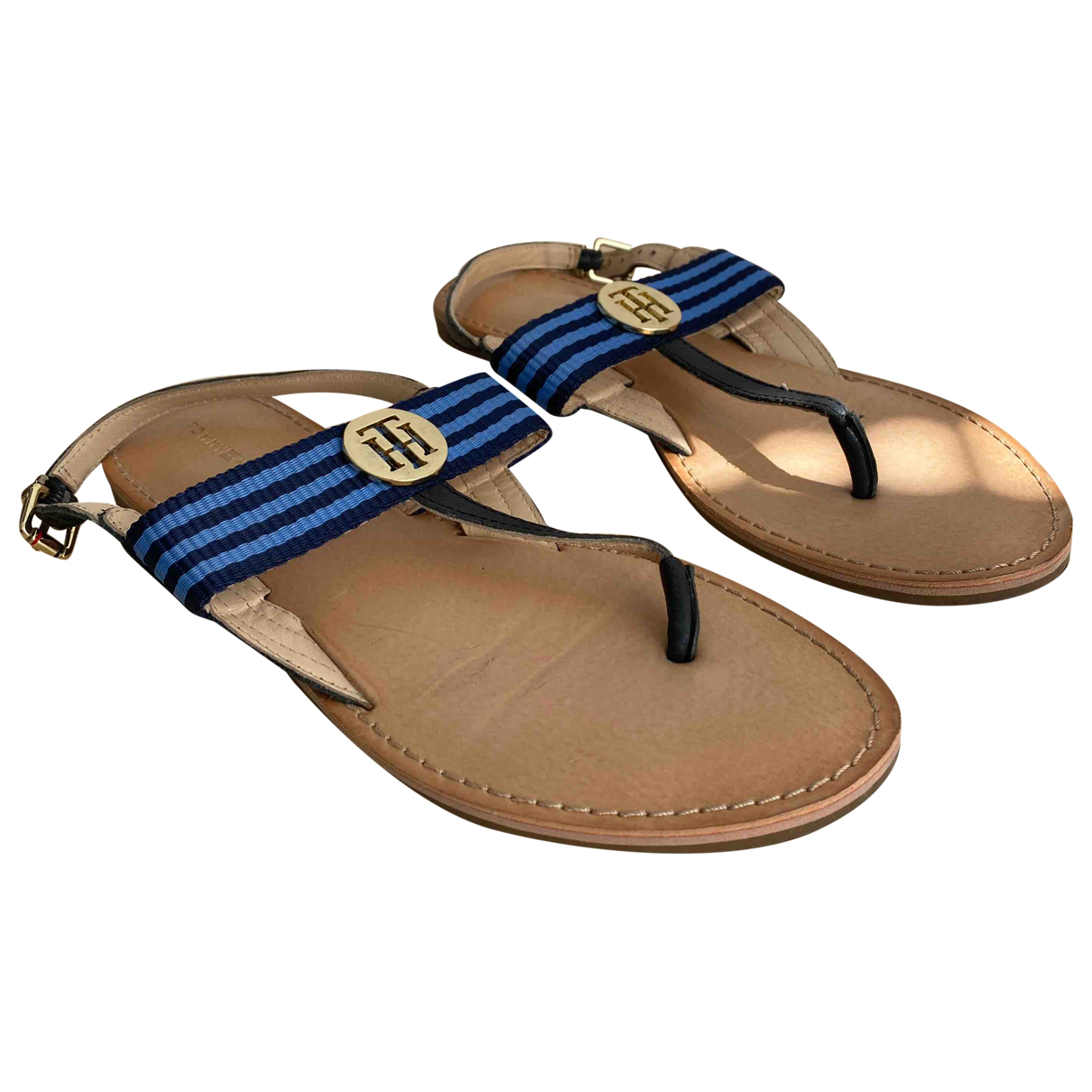 Tommy Hilfiger \N Sandalen in  Blau Leder