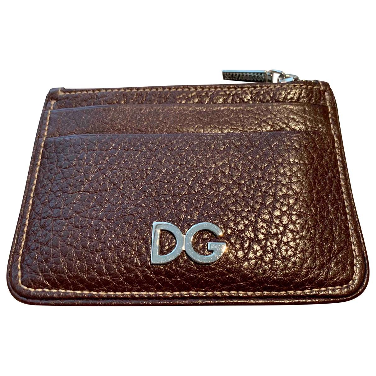 Dolce & Gabbana \N Kleinlederwaren in  Braun Leder