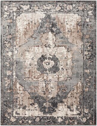 Chelsea CSA-2304 810 x 12 Rectangle Traditional Rug in Charcoal  Dark Brown  Camel  Medium Gray