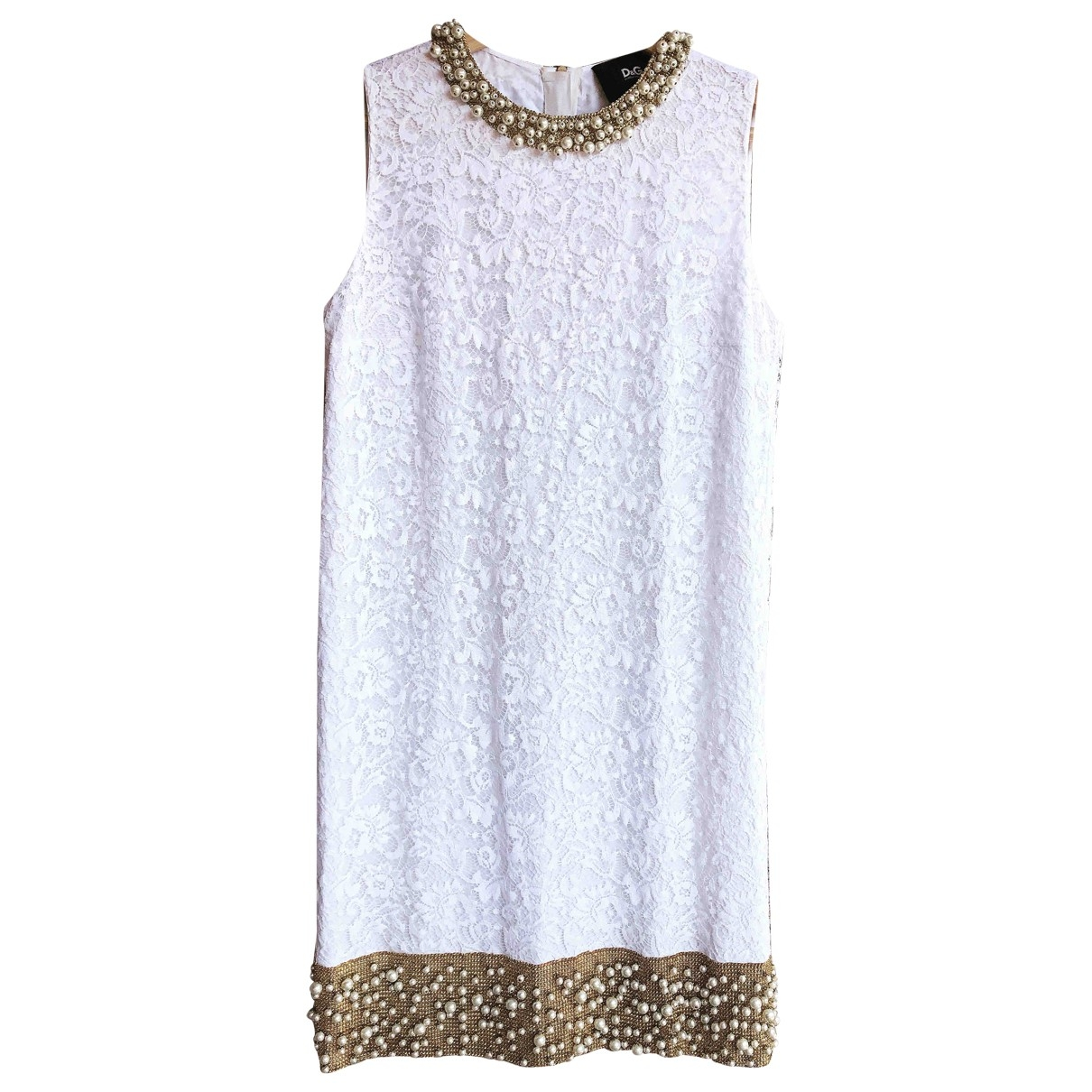 D&g - Robe   pour femme en soie - blanc