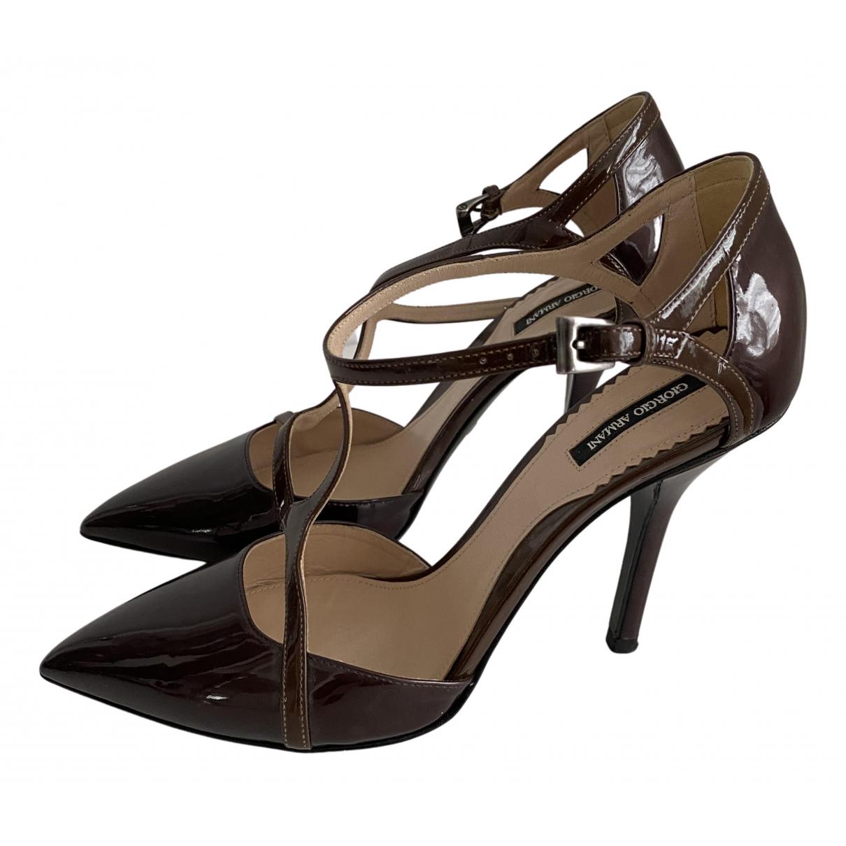 Giorgio Armani N Brown Patent leather Heels for Women 36 EU