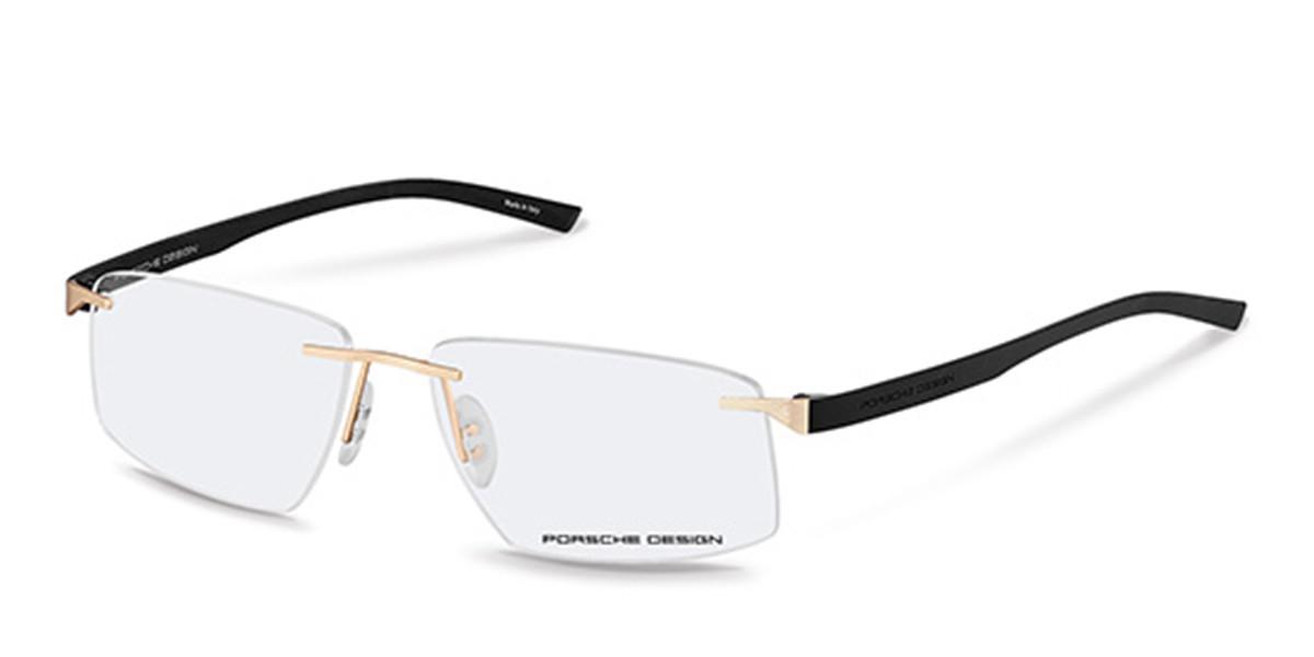 Porsche Design P8344 B Men's Glasses Gold Size 58 - Free Lenses - HSA/FSA Insurance - Blue Light Block Available