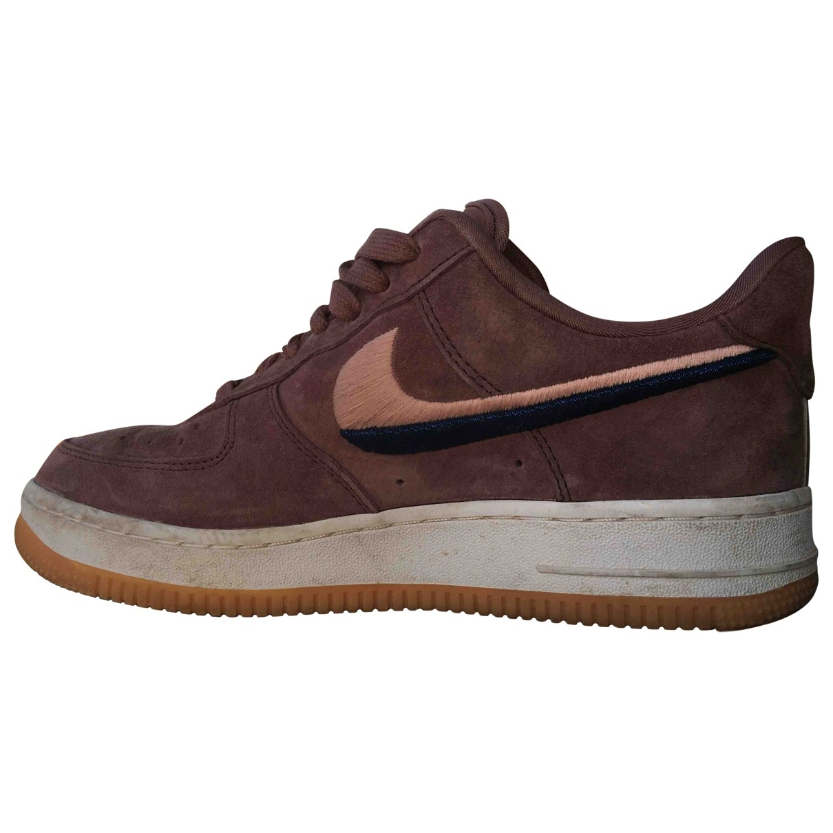 Nike Air Force 1 Burgundy Suede Trainers for Women 38 EU