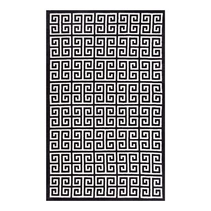 Freydis Collection R-1013A-58 Greek Key 5x8 Area Rug in Black and White