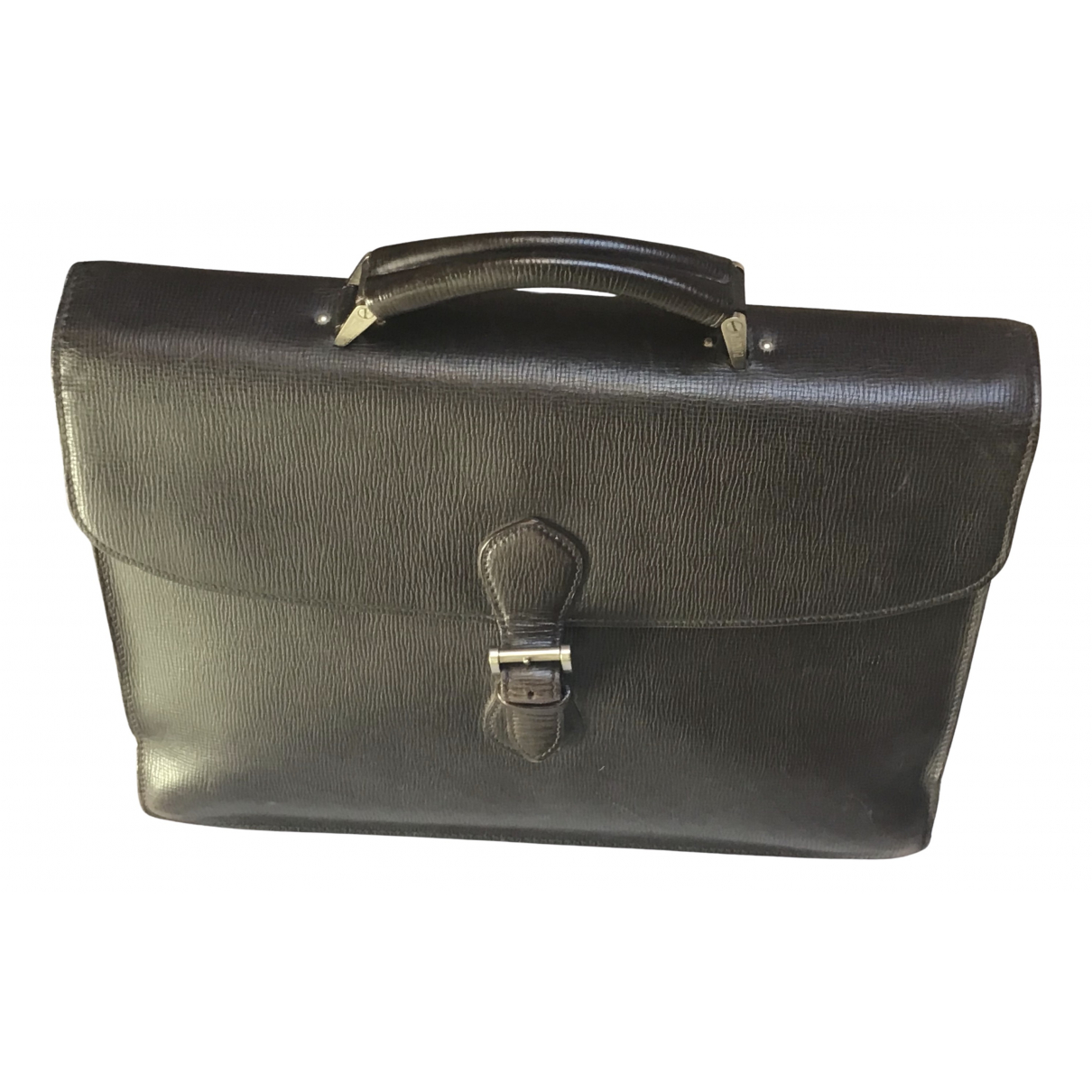 Valextra \N Brown Leather bag for Men \N
