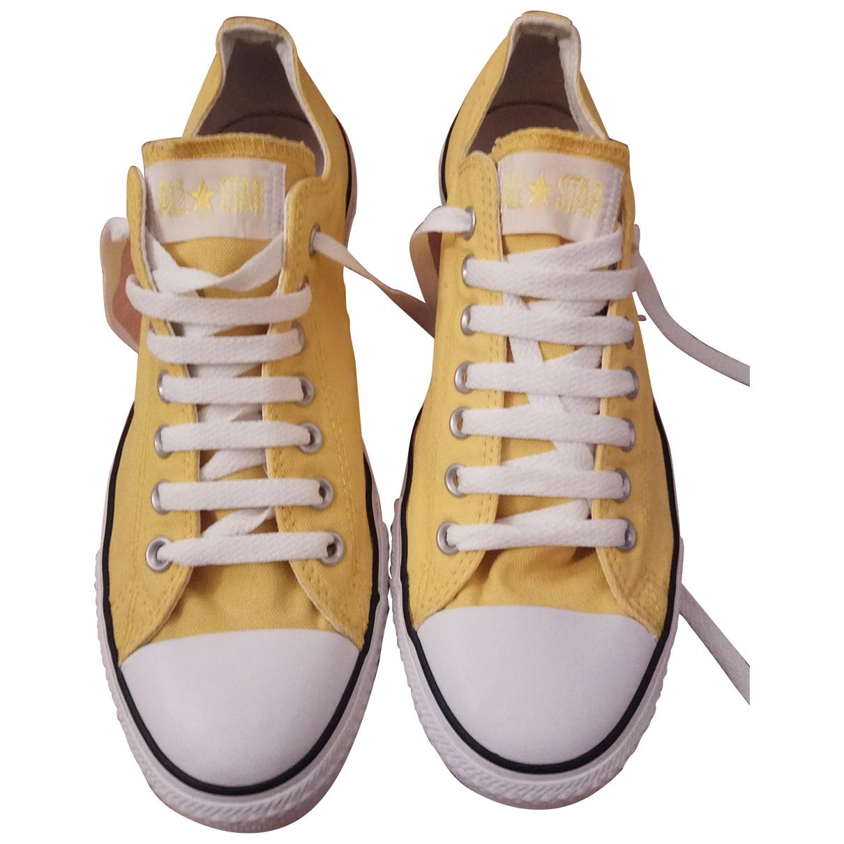 Converse - Baskets   pour homme en toile - jaune
