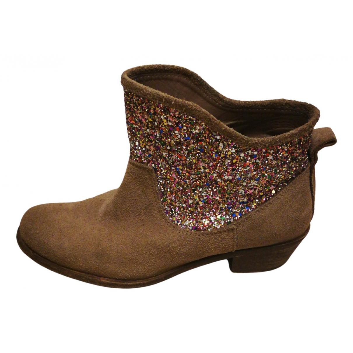 Hoss Intropia \N Beige Leather Ankle boots for Women 38 EU