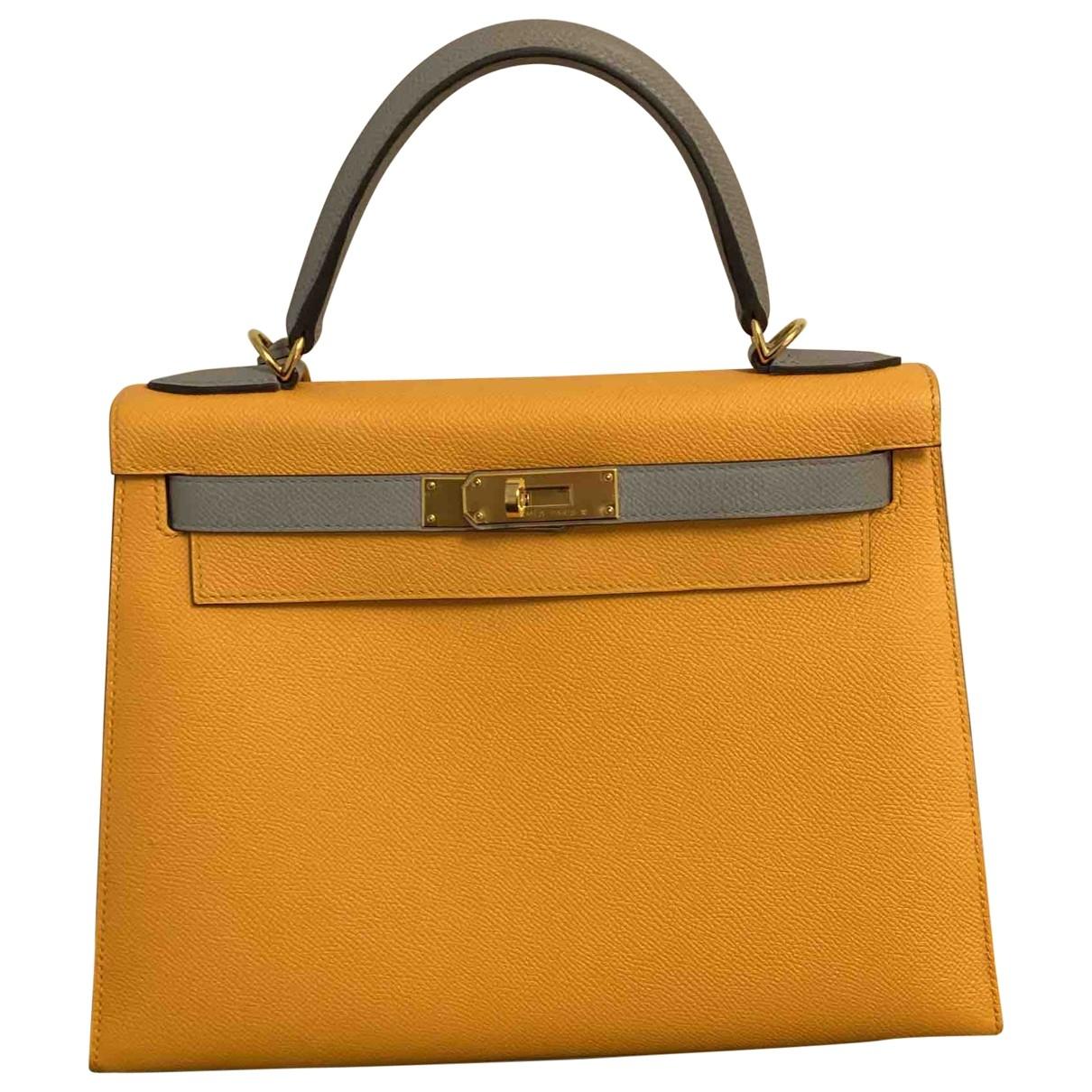 Hermès Kelly 28 Multicolour Leather handbag for Women \N