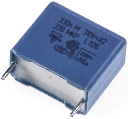 Vishay 330nF Polypropylene Capacitor PP 310V ac ±20% Tolerance Through Hole MKP 339 Series (10)