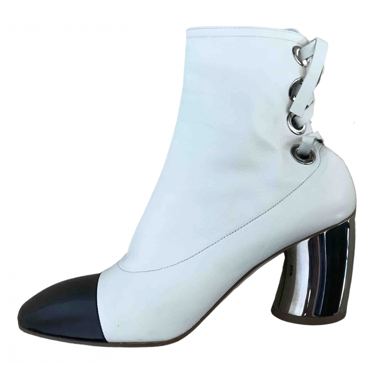 Proenza Schouler \N White Leather Ankle boots for Women 39.5 EU