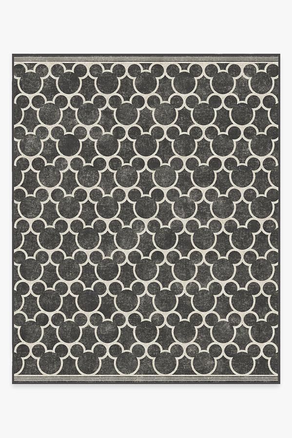 Washable Rug Cover | Mickey Trellis Black Rug | Stain-Resistant | Ruggable | 8'x10'
